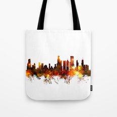 Chicago Illinois Skyline Tote Bag