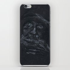 Black and white portrait  iPhone & iPod Skin