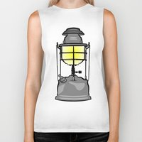 lantern Biker Tanks featuring Lantern by mailboxdisco