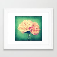 roses Framed Art Prints featuring Roses by 2sweet4words Designs