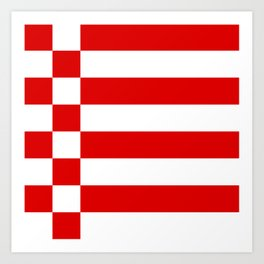 flag of bremen Art Print