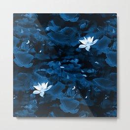 Enchanted Garden - A Lotus Pattern Metal Print