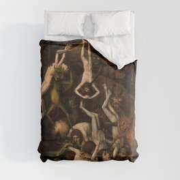 The Fall of the Damned, 1450-1468 by Dieric Bouts Comforters
