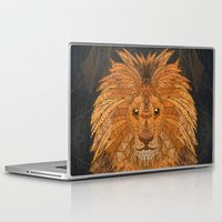 lion king Laptop & iPad Skins featuring King Lion by ArtLovePassion