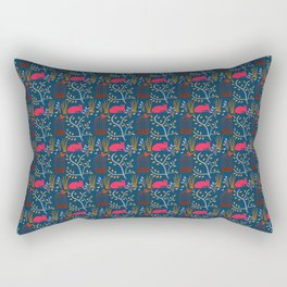 Birdcage Design in Red Rectangular Pillow