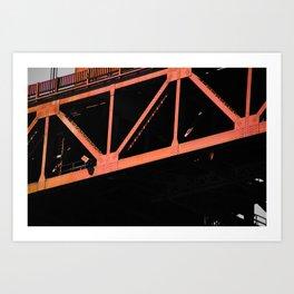 Crosshairs - Golden Gate Bridge San Francisco Art Print