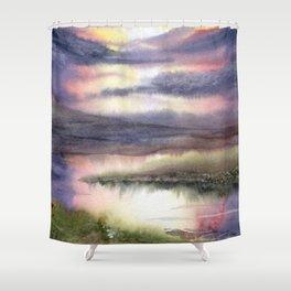 Intense Sky Shower Curtain