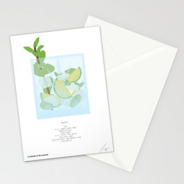 Mixology Cocktail Poster Mojito Stationery Cards