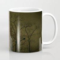 dark side Mugs featuring Dark Side by RDelean