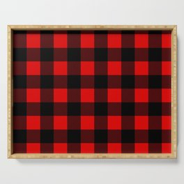 Plaid Serving Tray