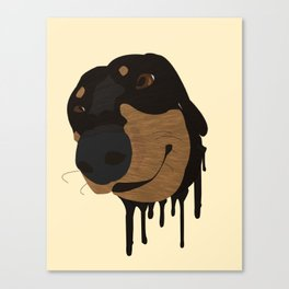 OLIVE DACHSHUNDS  Canvas Print