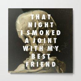 Diplomat's Skull Metal Print