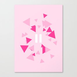 Opposite III Pause Pink Canvas Print