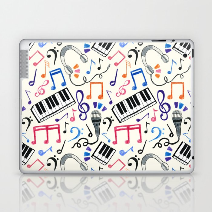 Good Beats Music Notes Symbols Laptop Ipad Skin By