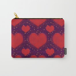 Galaxy Hearts Grunge Style Pattern Carry-All Pouch