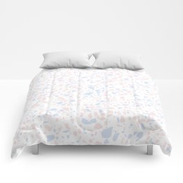 'Speckle Party' Lilac + Pink Dots Speckle Terrazzo Pattern Comforters