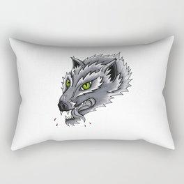 Trad Wolf Rectangular Pillow
