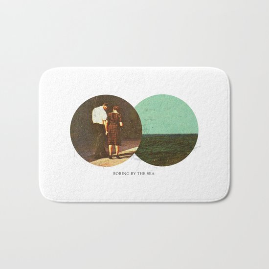 Boring by The Sea | Collage Bath Mat