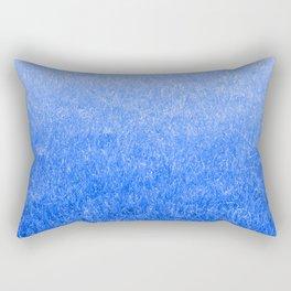 Light-to-Dark Blue Ombre Gradient Grass Rectangular Pillow