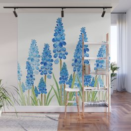 blue grape  hyacinth forest Wall Mural