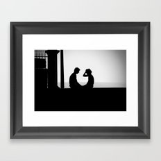 Love is... Black and white photography Framed Art Print