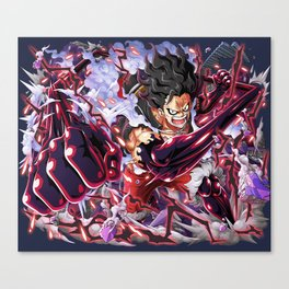 Luffy  Gear 4 Snake man  - One Piece Canvas Print