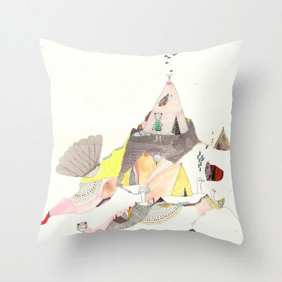 Kids Discover Magic Mountain Throw Pillow
