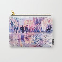 Dublin Watercolor Streetscape Carry-All Pouch