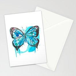 Blue butterfly Stationery Cards