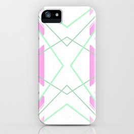 Delicate - pink and green abstract iPhone Case