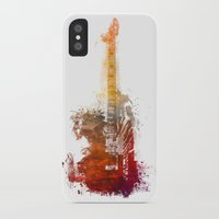 bass iPhone & iPod Cases featuring Bass Guitar by jbjart