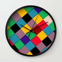 fool color pattern  Wall Clock