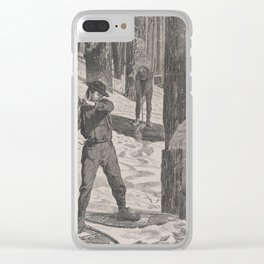 Vintage Illustration of a Lumberjack (1871) Clear iPhone Case