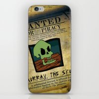 monkey island iPhone & iPod Skins featuring Monkey Island - WANTED! Murray, the Skull by Sberla