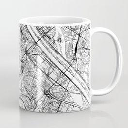 Vienna White Map Coffee Mug