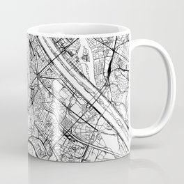 Vienna White Map Coffee Mug