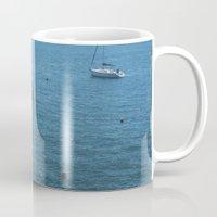 boats Mugs featuring Boats by Mauricio Santana