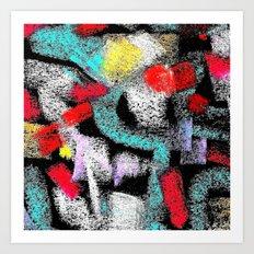 osile multicolor multicolor Art Print