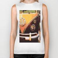 volkswagon Biker Tanks featuring Volkswagon Van by Alexandra Kube