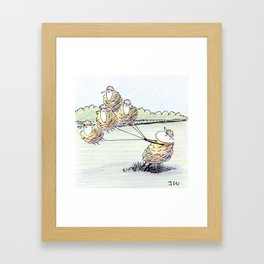The Strong Interaction Framed Art Print