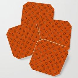 Orange stars pattern Coaster