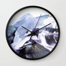 Glacier Mountains Wall Clock
