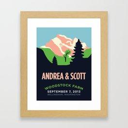 Mountains Print Framed Art Print