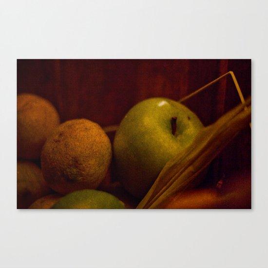 Apple and Orange Still Life Canvas Print