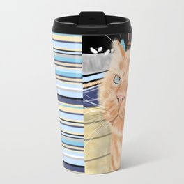 Oliver the Sniffy Red Tabby Cat Travel Mug