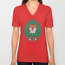 Just hangin' out here.. (Inu Series) Unisex V-Neck