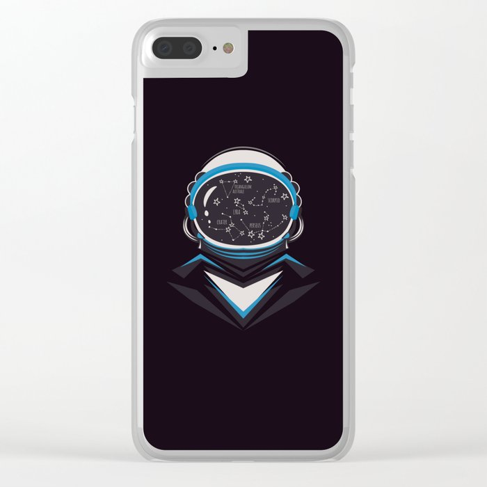 Space man Clear iPhone Case