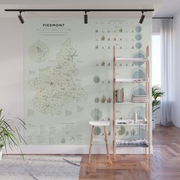 The Analytical Tourism Map of Piedmont Wall Mural