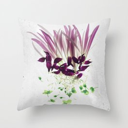 Alien Plant Botanical Blueprints Throw Pillow