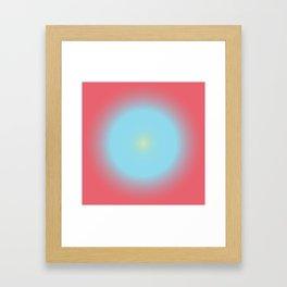 Gradient Cirkel V1 Framed Art Print